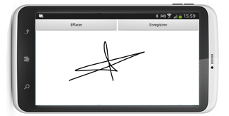 Signature �lectronique sur mobile