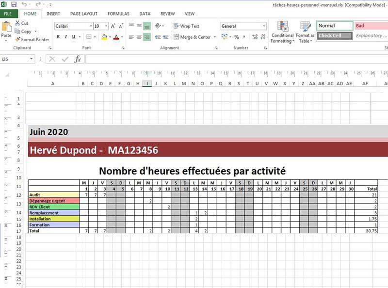 Modèles De Planning Excel à Télécharger Gratuitement