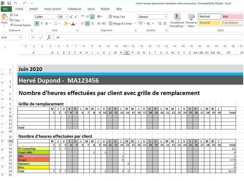 Modeles De Planning Excel A Telecharger Gratuitement