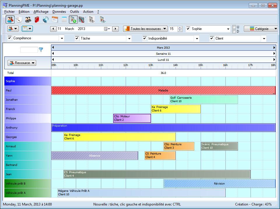 Planningpme gestion des rdv et des r parations pour un for Gestion de garage