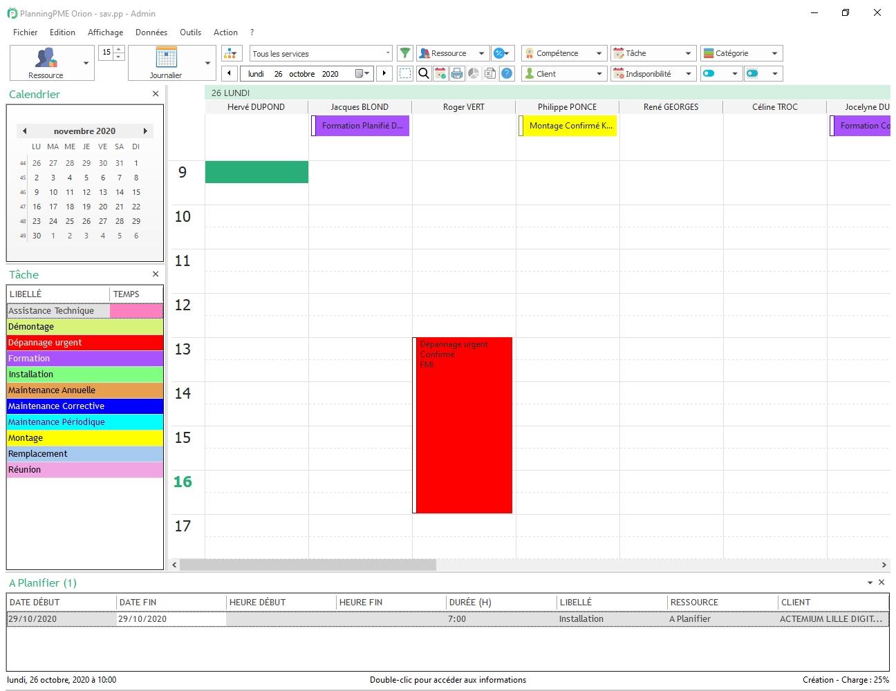 créer un agenda partagé avec planningpme