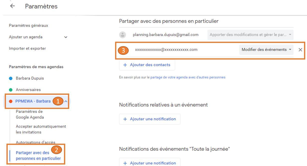 Partager Calendrier Gmail.Synchroniser Planningpme Avec Google Agenda